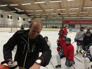 Anton Karlsson håller i veckans träningar Foto: Marie Angle/fbkbloggen