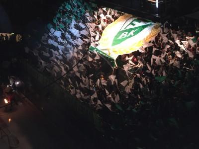 ...flaggtifo i grönt och vitt. Foto: Marie Angle/fbkbloggen