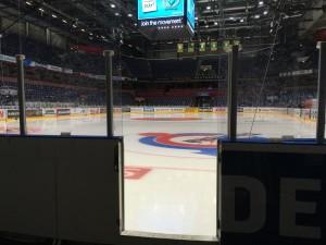 Löfbergs Arenas is ligger öde. Ingen SHL-match här förrän om nästan exakt sex månader! Foto: Marie Angle/fbkbloggen