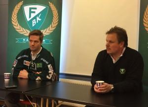 Leif Carlsson har just presenterat säsongens första nyförvärv - Lars Haugen Foto: Marie Angle/fbkbloggen