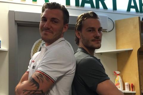 Bröderna John och Johan Persson är två fysiskt starka lirare som kommer att bli nyttiga framför motståndarmålet i vinter. Foto: Marie Angle/fbkbloggen