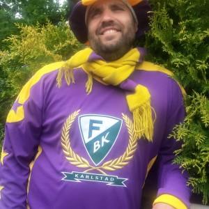 Så här laddar fbkbloggens Joakim Angle för hockeysäsongen! Foto: Marie Angle/fbkbloggen
