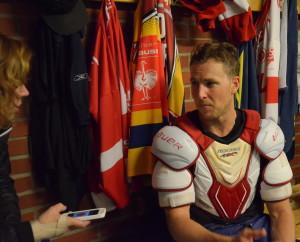 Marcus Paulsson följer sitt gamla lag, berättade han när vi träffades i omklädningsrummet efter matchen. Foto: Joakim Angle/fbkbloggen