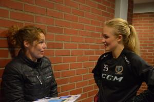 "Assisterande kaptenen Emma ""Linkan"" Lindgren gjorde fyra mål i seriepremiären. Foto: Joakim Angle/fbkbloggen"