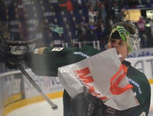 Välförtjänt vinnare av  ett av matchens lirare-priserna: Justin Pogge Foto: Joakim Angle/fbkbloggen