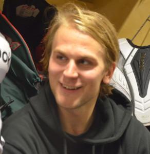 Daniel Gunnarsson har fått mer förtroende i höst - bland annat i powerplay - och jag är inte förvånad men väldigt glad över hans snygga, första balja i kvällens match Foto: Joakim Angle/fbkbloggen
