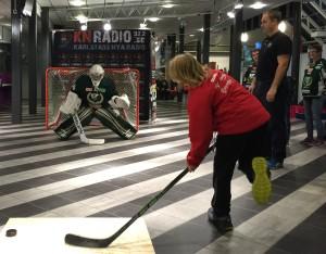 Linda Glädt in action! Foto: Marie Angle/fbkbloggen