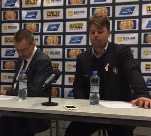Okej, riktigt så dystert som det ser ut på stjärnfotografens bild var det inte under presskonferensen! Foto: Marie Angle/fbkbloggen