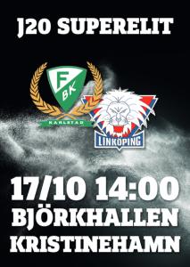 J20 spelar i Björkhallen, Kristinehamn på lördag och i Hammarö ishall på söndag klockan 13.00.