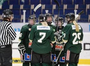 Jonna Andersson har precis gjort sitt första seriemål för säsongen! Foto: Simone Syversson/Enomis