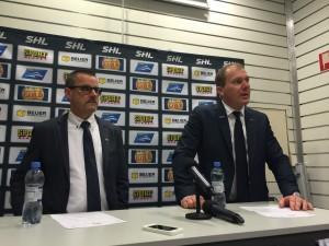 Tommy Samuelsson och Johan Lindbom på presskonferensen efter matchen Foto: Marie Angle/fbkbloggen